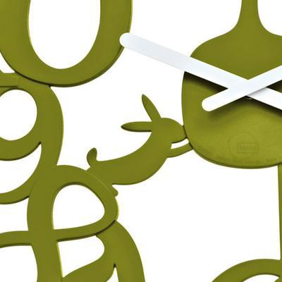 Koziol Pi:p Olive Wall Clock image 2