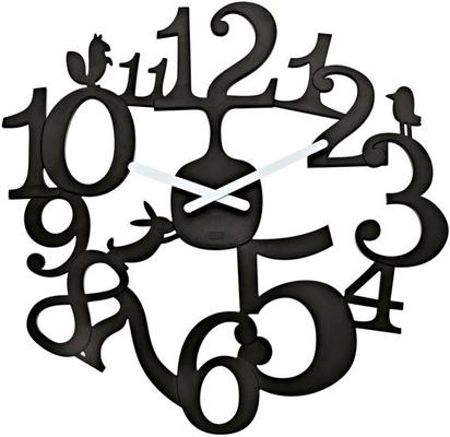 Koziol Pip Black Wall Clock
