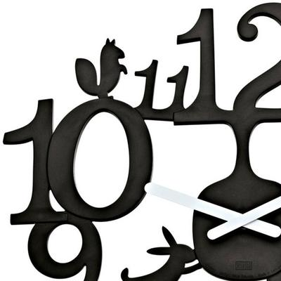 Koziol Pip Black Wall Clock image 2