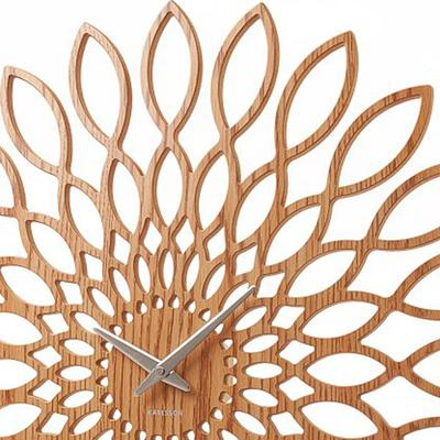 Karlsson Wood Sunflower Clock image 3