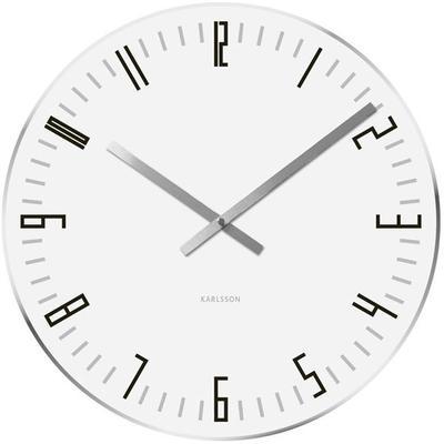 Karlsson Slim Index Clock - White