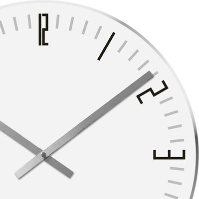 Karlsson Slim Index Clock - White image 2