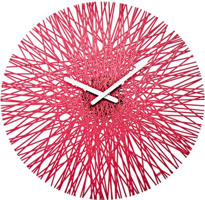 Koziol Silk Wall Clock - Raspberry Red