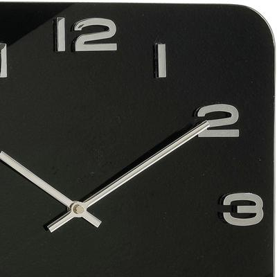 Karlsson Vintage Square Glass Clock - Black image 2