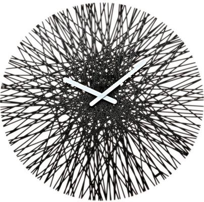 Koziol Silk Wall Clock - Black