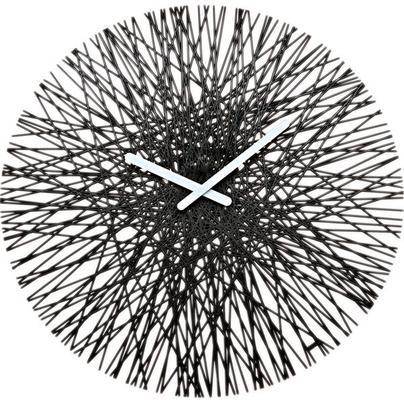 Koziol Silk Wall Clock - Black