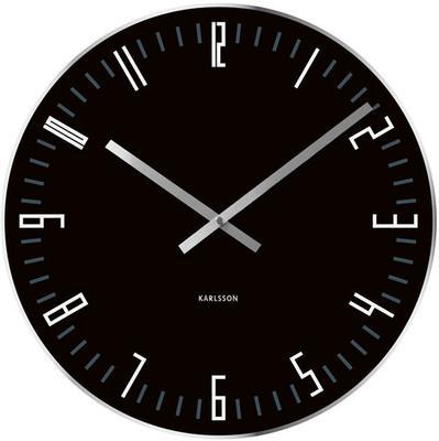 Karlsson Slim Index Clock - Black [D]