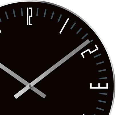 Karlsson Slim Index Clock - Black [D] image 2