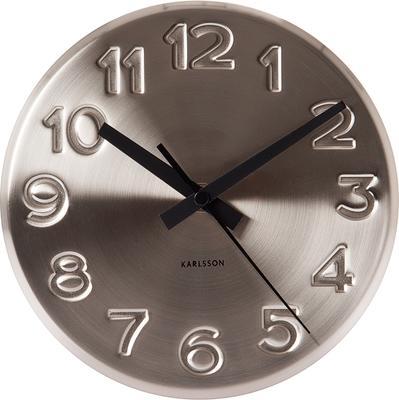 Karlsson Wall Clock Bold Engraved Steel