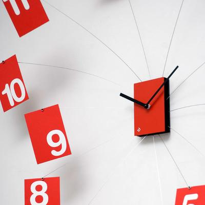 Progetti IlTempoVola Wall Clock (Red) image 3