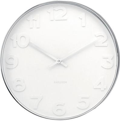 Karlsson Mr White Numbers Wall Clock - Large