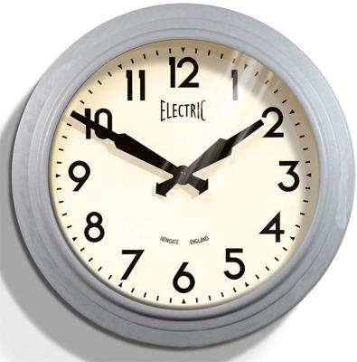Newgate 50s Electric Wall Clock (Laboratory Grey)