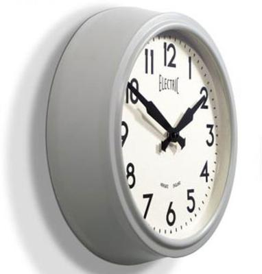 Newgate 50s Electric Wall Clock (Laboratory Grey) image 2