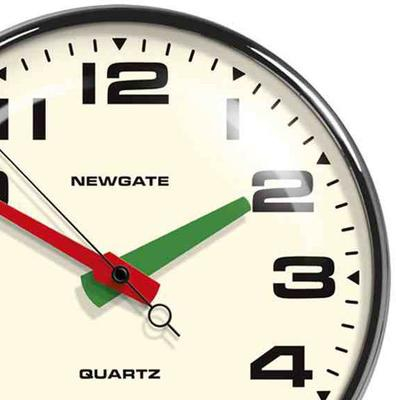 Newgate Brixton Wall Clock (Chrome) image 2