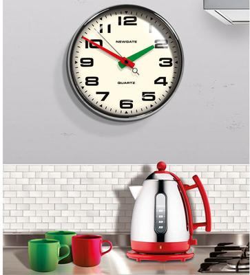 Newgate Brixton Wall Clock (Chrome) image 3