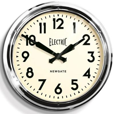 Newgate Giant Electric Station Clock (Chrome)