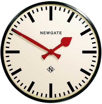 Newgate Putney Wall Clock (Black)