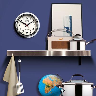 Newgate Small 50s Electric Wall Clock (Chrome) image 3