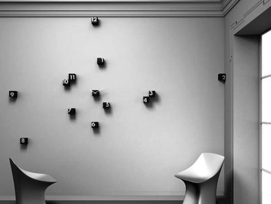 Progetti RND Time Wall Clock (Black) image 2