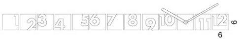 Progetti RND Time Wall Clock (White) image 2