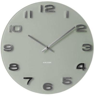 Karlsson Vintage Round Glass Clock (Grey)