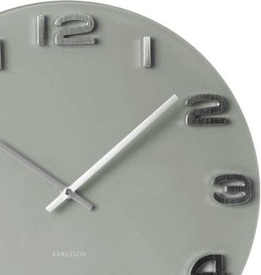 Karlsson Vintage Round Glass Clock (Grey) image 2