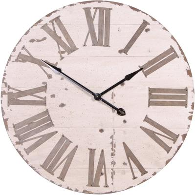 Large Distressed Wall Clock