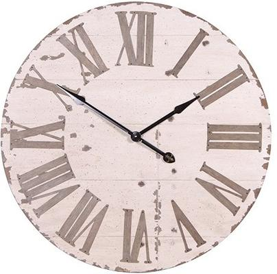 Large Distressed Wall Clock image 2