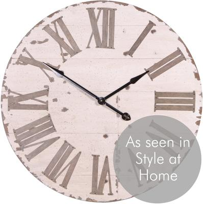 Large Distressed Wall Clock image 3