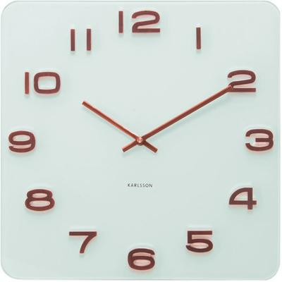 Karlsson Vintage Square Glass Clock - White and Copper