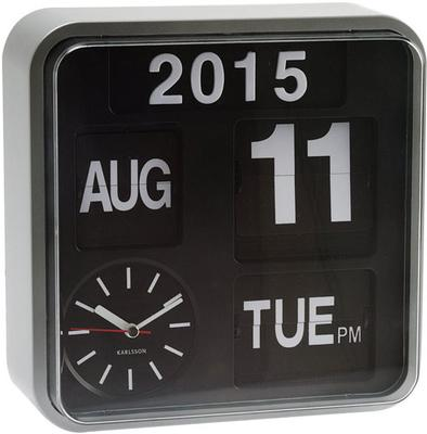 Karlsson Mini Flip Wall Clock - Silver