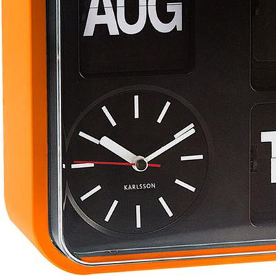 Karlsson Mini Flip Wall Clock - Orange image 2