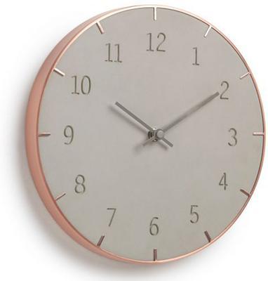 Umbra Piatto Wall Clock Concrete and Copper
