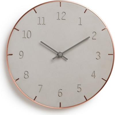 Umbra Piatto Wall Clock Concrete and Copper image 2