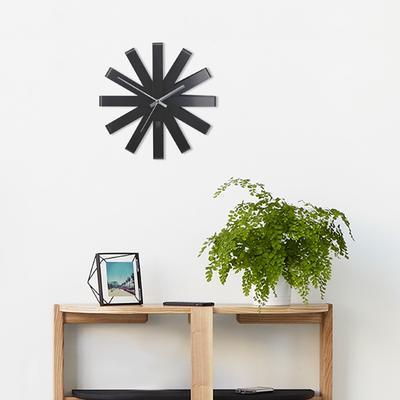Umbra Ribbon Wall Clock - Black image 3