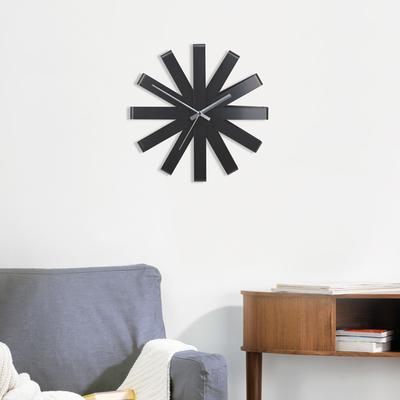 Umbra Ribbon Wall Clock - Black image 4