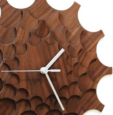 Cogwheel Wall Clock - Walnut image 2