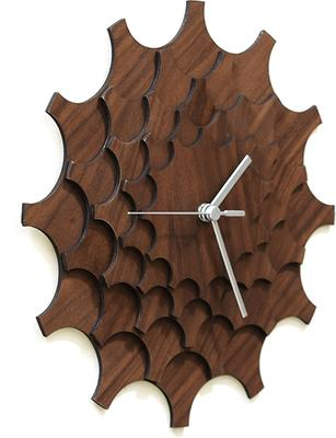 Cogwheel Wall Clock - Walnut image 3