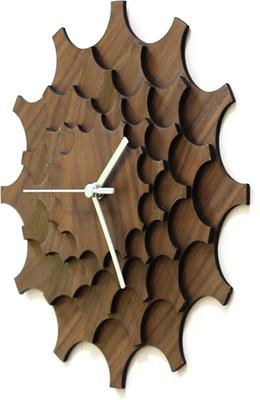 Cogwheel Wall Clock - Walnut image 4
