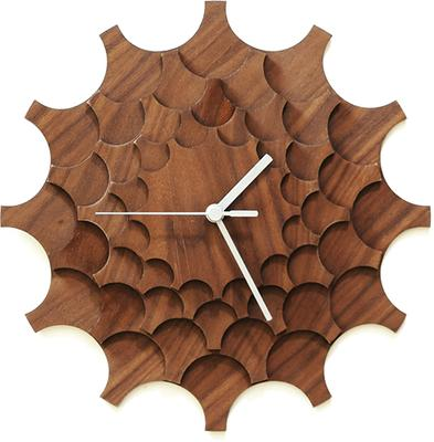 Cogwheel Wall Clock - Walnut