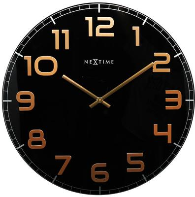 NeXtime Classy Large Wall Clock - Black & Copper
