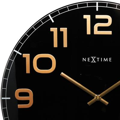 NeXtime Classy Large Wall Clock - Black & Copper image 2