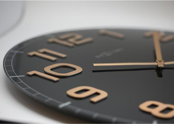 NeXtime Classy Large Wall Clock - Black & Copper image 3