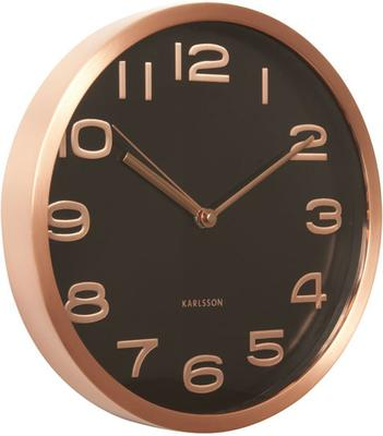 Karlsson Maxie Copper Clock - Black