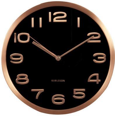 Karlsson Maxie Copper Clock - Black image 2