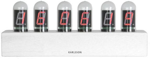 Karlsson Retro Nixie Tube Cathode Clock - White