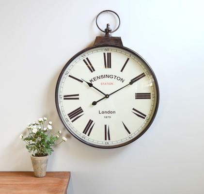 Pocket Watch Vintage Wall Clock - Brass