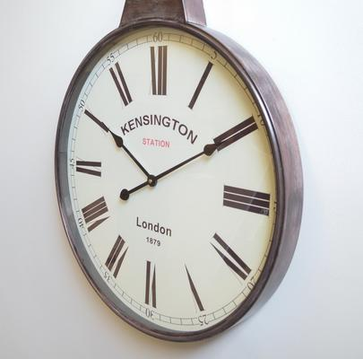 Pocket Watch Vintage Wall Clock - Brass image 2