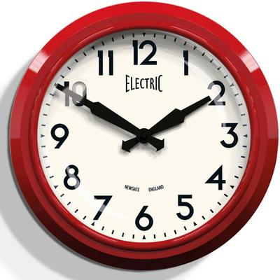 Newgate 50s Electric Wall Clock - Red