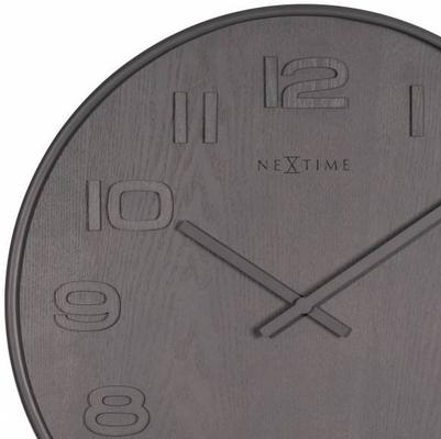 NeXtime Wood Wood Medium Clock - Grey image 2